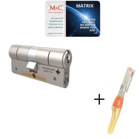M&C Matrix SKG3 - 1 cilinder met 3 sleutels