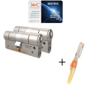M&C Matrix SKG3 - 2 cilinders met 5 sleutels