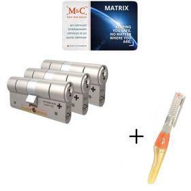 M&C Matrix SKG3 - 3 cilinders met 5 sleutels