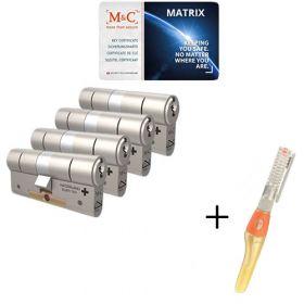 M&C Matrix SKG3 - 4 cilinders met 7 sleutels