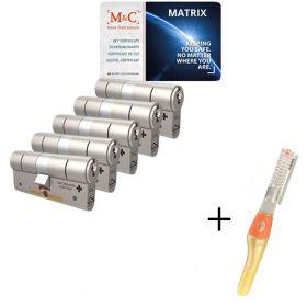 M&C Matrix SKG3 - 5 cilinders met 7 sleutels