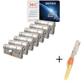 M&C Matrix SKG3 - 7 cilinders met 8 sleutels