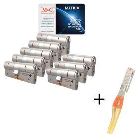 M&C Matrix SKG3 - 8 cilinders met 8 sleutels