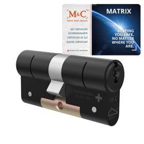 M&C Matrix SKG3 zwart - 1 cilinder met 3 sleutels