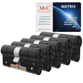 M&C Matrix SKG3 zwart - 5 cilinders met 7 sleutels