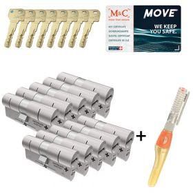 M&C Move SKG3 - 10 cilinders met 8 sleutels