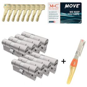 M&C Move SKG3 - 8 cilinders met 8 sleutels