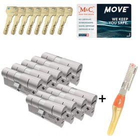 M&C Move SKG3 - 9 cilinders met 8 sleutels