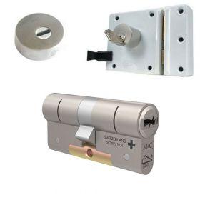 M&C oplegslot wit met Kerntrekrozet + 1x M&C Condor cilinder