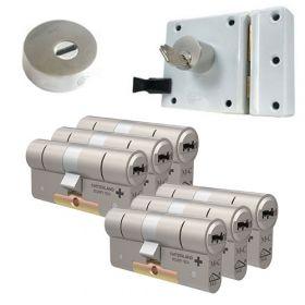 M&C oplegslot wit met Kerntrekrozet + 6x M&C Condor cilinder