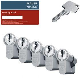 Mauer MLS FP2 SKG3 - 5 cilinders met 15 sleutels