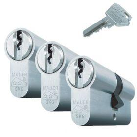 Mauer Standaard SKG2 - 3 cilinders met 9 sleutels