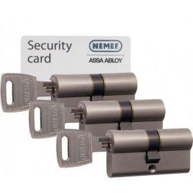 Nemef NF3 SKG3 - 3 cilinders met 9 sleutels