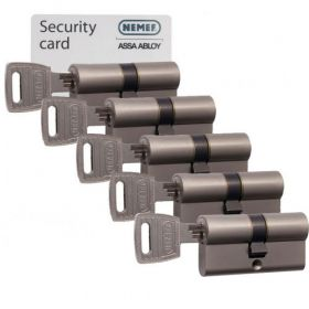 Nemef NF3 SKG3 - 5 cilinders met 15 sleutels
