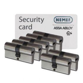 Nemef NF4 SKG3 - 7 cilinders met 21 sleutels
