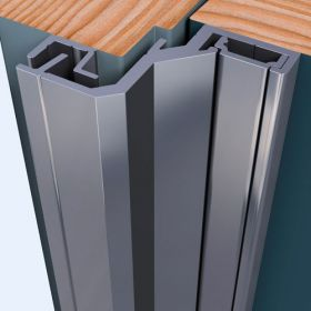 SecuStrip Style naar buitendraaiend 2500 mm F1 Aluminium
