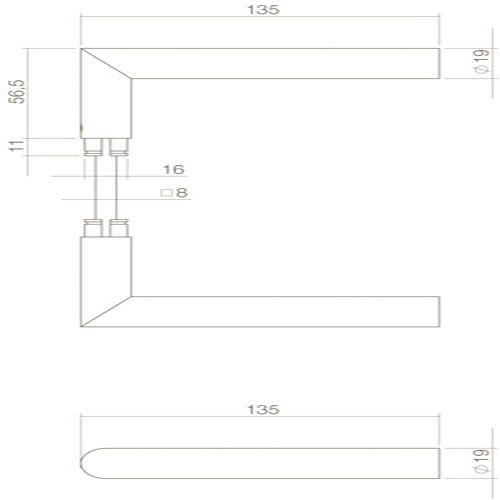 Zeer Intersteel Jura 0023.268865 WC deurbeslag QJ74