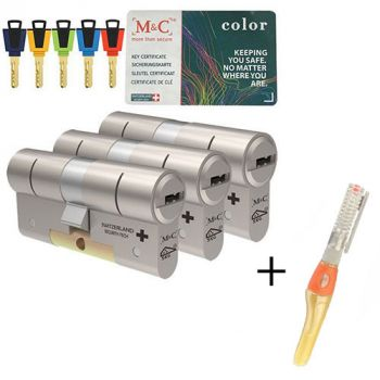 M&C Color+ SKG3 - 3 cilinders met 5 sleutels