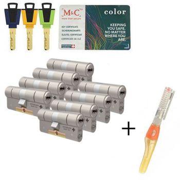 M&C Color+ SKG3 - 8 cilinders met 8 sleutels