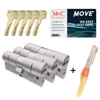 M&C Move SKG3 - 3 cilinders met 5 sleutels