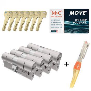 M&C Move SKG3 - 4 cilinders met 7 sleutels