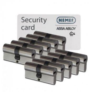 Nemef NF4 SKG3 - 10 cilinders met 30 sleutels